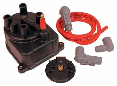 Distributor and Magneto - Distributor Cap and Rotor Kit - MSD - DistCap/RotorMod.HonCiv/CRX 1.5/6L 88-91 - 82903