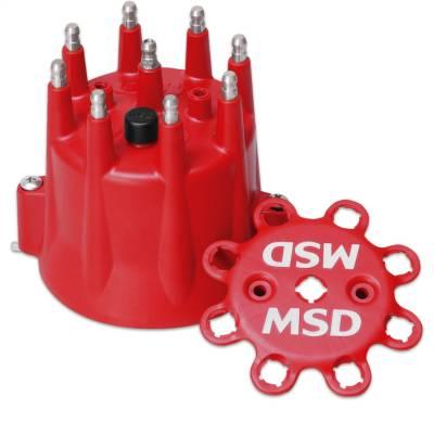 Distributor and Magneto - Distributor Cap - MSD - Distributor Cap, Chevy V8, HEI, Retainer - 8433