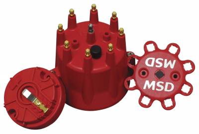 Distributor and Magneto - Distributor Cap and Rotor Kit - MSD - Distributor Cap/ Rotor Kit Chevy V8, HEI - 84335