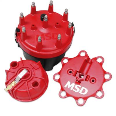 Distributor and Magneto - Distributor Cap and Rotor Kit - MSD - Cap-A-Dapt Kit, Fixed Rotor - 8445
