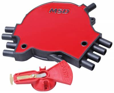 Distributor and Magneto - Distributor Cap and Rotor Kit - MSD - Dist. Cap & Rotor, 93-94 GM LT-1 5.7L - 8481