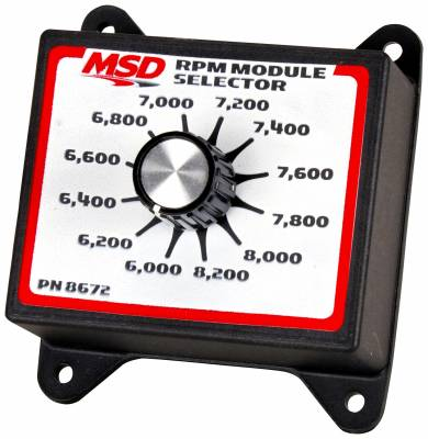 Fuel Injection System and Related Components - Engine RPM Limiter - MSD - Selector Switch, 6.0K-8.2K - 8672