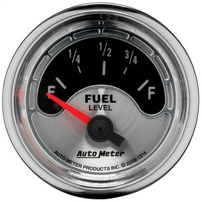 "Instrument Panel - Fuel Level Gauge - AutoMeter - GAUGE, FUEL LEVEL, 2 1/16"", 0OE TO 90OF, ELEC, AMERICAN MUSCLE - 1214"