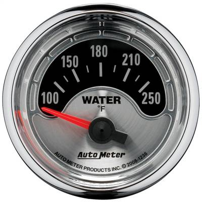 "Instrument Panel - Engine Coolant Temperature Gauge - AutoMeter - GAUGE, WATER TEMP, 2 1/16"", 250?F, ELEC, AMERICAN MUSCLE - 1236"