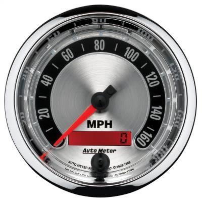 """Instrument Panel - Speedometer Gauge - AutoMeter - GAUGE, SPEEDOMETER, 3 3/8"""", 160MPH, ELEC. PROGRAMMABLE, AMERICAN MUSCLE - 1288"""