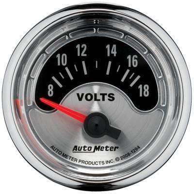 """Instrument Panel - Voltmeter Gauge - AutoMeter - GAUGE, VOLTMETER, 2 1/16"""", 18V, ELEC, AMERICAN MUSCLE - 1294"""