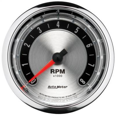"Instrument Panel - Tachometer Gauge - AutoMeter - GAUGE, TACHOMETER, 3 3/8"", 8K RPM, IN-DASH, AMERICAN MUSCLE - 1298"