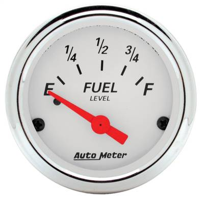 "Instrument Panel - Fuel Level Gauge - AutoMeter - GAUGE, FUEL LEVEL, 2 1/16"", 0OE TO 90OF, ELEC, ARCTIC WHITE - 1315"