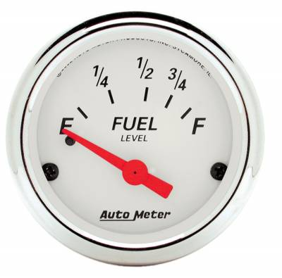 "Instrument Panel - Fuel Level Gauge - AutoMeter - GAUGE, FUEL LEVEL, 2 1/16"", 73OE TO 10OF, ELEC, ARCTIC WHITE - 1316"