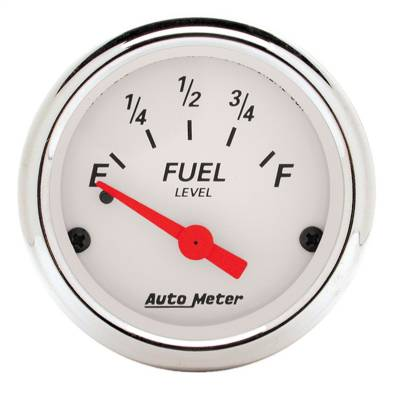 "Instrument Panel - Fuel Level Gauge - AutoMeter - GAUGE, FUEL LEVEL, 2 1/16"", 0OE TO 30OF, ELEC, ARCTIC WHITE - 1318"