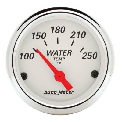 "Instrument Panel - Engine Coolant Temperature Gauge - AutoMeter - GAUGE, WATER TEMP, 2 1/16"", 250?F, ELEC, ARCTIC WHITE - 1337"
