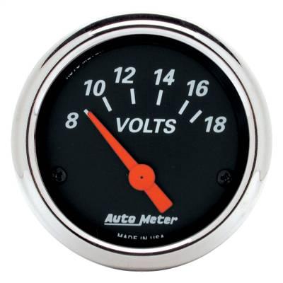 """Instrument Panel - Voltmeter Gauge - AutoMeter - GAUGE, VOLTMETER, 2 1/16"""", 18V, ELEC, DESIGNER BLACK - 1483"""