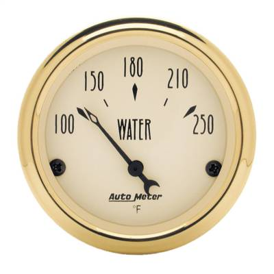 "Instrument Panel - Engine Coolant Temperature Gauge - AutoMeter - GAUGE, WATER TEMP, 2 1/16"", 250?F, ELEC, GOLDEN OLDIES - 1538"