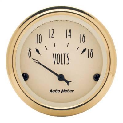 """Instrument Panel - Voltmeter Gauge - AutoMeter - GAUGE, VOLTMETER, 2 1/16"""", 18V, ELEC, GOLDEN OLDIES - 1592"""