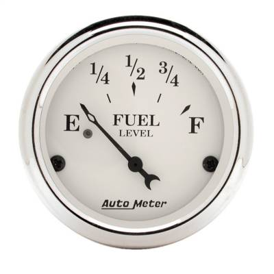 "Instrument Panel - Fuel Level Gauge - AutoMeter - GAUGE, FUEL LEVEL, 2 1/16"", 240OE TO 33OF, ELEC, OLD TYME WHITE - 1606"