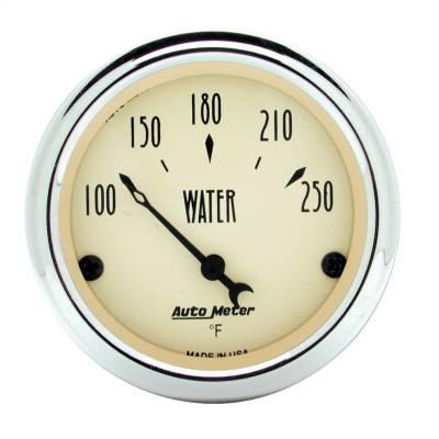 "Instrument Panel - Engine Coolant Temperature Gauge - AutoMeter - GAUGE, WATER TEMP, 2 1/16"", 250?F, ELEC, ANTIQUE BEIGE - 1837"