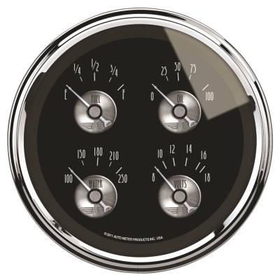 """Instrument Panel - Electronic Multi Purpose Gauge - AutoMeter - GAUGE, QUAD, 5"""", 240OE-33OF, ELEC, PRESTIGE BLK. DIAMOND - 2011"""