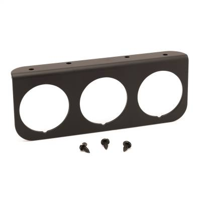 "AutoMeter - GAUGE MOUNTING PANEL, TRIPLE, 2 1/16"", BLACK, ALUMINUM - 2238"