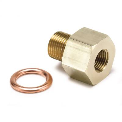 """FITTING, ADAPTER, METRIC, M12X1 MALE TO 1/8"""" NPTF FEMALE, BRASS - 2266"""
