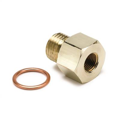 """FITTING, ADAPTER, METRIC, M14X1.5 MALE TO 1/8"""" NPTF FEMALE, BRASS - 2267"""