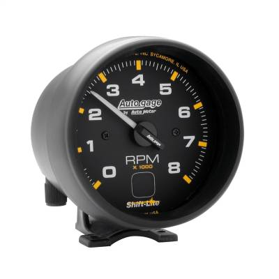 "Instrument Panel - Tachometer Gauge - AutoMeter - GAUGE, TACH, 3 3/4"", 8K RPM, PEDESTAL W/ SHIFT LIGHT, BLK DIAL BLK CASE, AG - 2302"