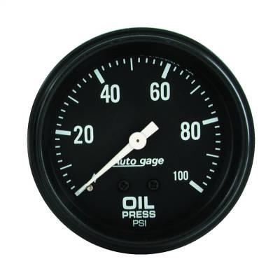 "Instrument Panel - Engine Oil Pressure Gauge - AutoMeter - GAUGE, OIL PRESSURE, 2 5/8"" 0-100PSI, MECHANICAL, BLACK, AUTOGAGE - 2312"