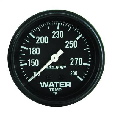 "Instrument Panel - Engine Coolant Temperature Gauge - AutoMeter - GAUGE, WATER TEMPERATURE, 2 5/8"" 100-280?F, MECHANICAL, BLACK, AUTOGAGE - 2313"