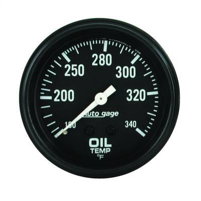 "Instrument Panel - Engine Oil Temperature Gauge - AutoMeter - GAUGE, OIL TEMPERATURE, 2 5/8"" 100-340?F, MECHANICAL, BLACK, AUTOGAGE - 2314"