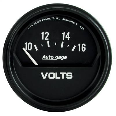 """Instrument Panel - Voltmeter Gauge - AutoMeter - GAUGE, VOLTMETER, 2 5/8"""", 16V, ELEC, BLACK, AUTOGAGE - 2319"""