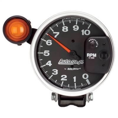 "Instrument Panel - Tachometer Gauge - AutoMeter - GAUGE, TACHOMETER, 5"", 10K RPM, PEDESTAL W/ EXT. SHIFT-LITE, BLACK, AUTO GAGE - 233904"