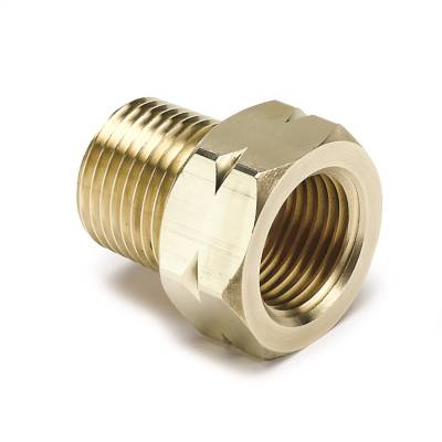 "Fittings - Pipe Fitting - AutoMeter - FITTING, ADAPTER, 3/8"" NPT MALE, BRASS, FOR AUTO GAGE MECH. TEMP. - 2370"