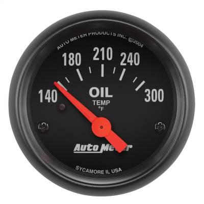 "Instrument Panel - Engine Oil Temperature Gauge - AutoMeter - GAUGE, OIL TEMP, 2 1/16"", 140-300?F, ELECTRIC, Z-SERIES - 2639"