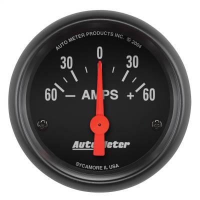 "Instrument Panel - Ammeter Gauge - AutoMeter - GAUGE, AMMETER, 2 1/16"", 60A, ELECTRIC, Z-SERIES - 2644"