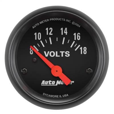 """Instrument Panel - Voltmeter Gauge - AutoMeter - GAUGE, VOLTMETER, 2 1/16"""", 18V, ELEC, Z-SERIES - 2645"""