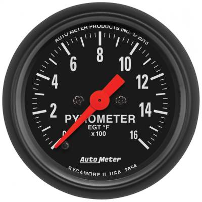 "Hand Tools - Pyrometer - AutoMeter - GAUGE, PYROMETER (EGT), 2 1/16"", 1600?F, DIGITAL STEPPER MOTOR, Z-SERIES - 2654"