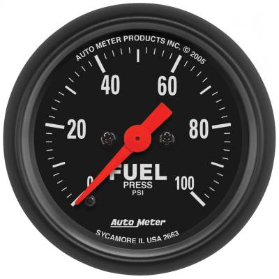 "Instrument Panel - Fuel Pressure Gauge - AutoMeter - GAUGE, FUEL PRESSURE, 2 1/16"", 100PSI, DIGITAL STEPPER MOTOR, Z-SERIES - 2663"