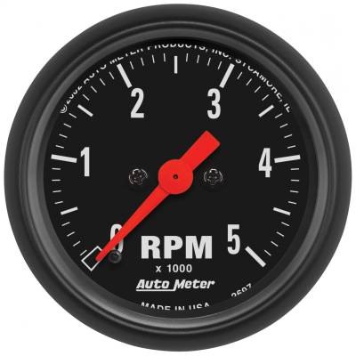 "Instrument Panel - Tachometer Gauge - AutoMeter - GAUGE, TACHOMETER, 2 1/16"", 5K RPM, IN-DASH, Z-SERIES - 2697"
