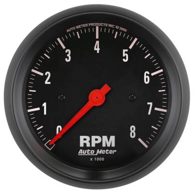 "Instrument Panel - Tachometer Gauge - AutoMeter - GAUGE, TACHOMETER, 3 3/8"", 8K RPM, IN-DASH, Z-SERIES - 2699"