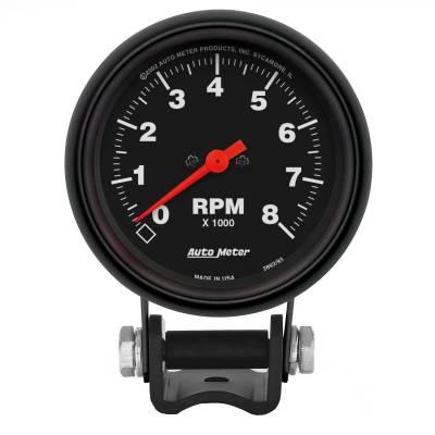 "Instrument Panel - Tachometer Gauge - AutoMeter - GAUGE, TACHOMETER, 2 5/8"", 8K RPM, PEDESTAL, Z-SERIES - 2892"