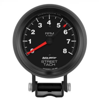 "Instrument Panel - Tachometer Gauge - AutoMeter - GAUGE, TACHOMETER, 3 3/4"", 8K RPM, PEDESTAL W/RED LINE, Z-SERIES - 2894"