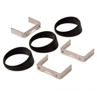 "AutoMeter - GAUGE MOUNT, ANGLE RINGS, 3 PCS., BLACK, FOR 2 5/8"" GAUGES - 3244"