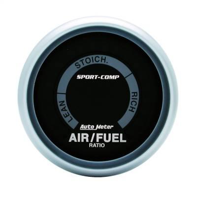 """GAUGE, AIR/FUEL RATIO-NARROWBAND, 2 1/16"""", LEAN-RICH, LED ARRAY, SPORT-COMP - 3375"""