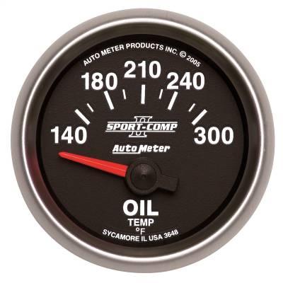 """Instrument Panel - Engine Oil Temperature Gauge - AutoMeter - GAUGE, OIL TEMP, 2 1/16"""", 140-300?F, ELECTRIC, SPORT-COMP II - 3648"""