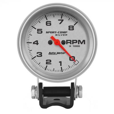 "Instrument Panel - Tachometer Gauge - AutoMeter - GAUGE, TACHOMETER, 2 5/8"", 8K RPM, PEDESTAL, ULTRA-LITE - 3707"