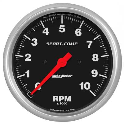 "Instrument Panel - Tachometer Gauge - AutoMeter - GAUGE, TACHOMETER, 5"", 10K RPM, IN-DASH, SPORT-COMP - 3990"