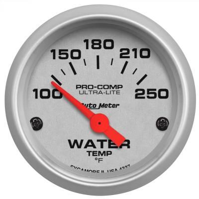 "Instrument Panel - Engine Coolant Temperature Gauge - AutoMeter - GAUGE, WATER TEMP, 2 1/16"", 100-250?F, ELECTRIC, ULTRA-LITE - 4337"