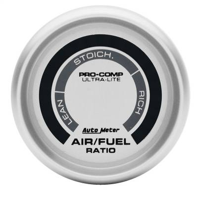 "Instrument Panel - Air / Fuel Ratio Gauge - AutoMeter - GAUGE, AIR/FUEL RATIO-NARROWBAND, 2 1/16"", LEAN-RICH, LED ARRAY, ULTRA-LITE - 4375"