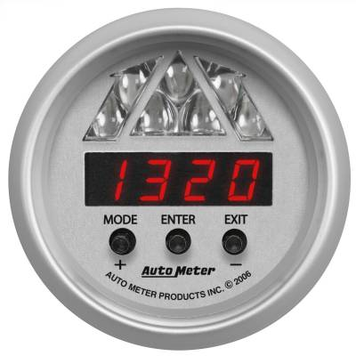 Instrument Panel - Tachometer Gauge - AutoMeter - GAUGE, SHIFT LIGHT, DIGITAL RPM W/ MULTI-COLOR LED LIGHT, DPSS LEVEL 2, UL - 4388