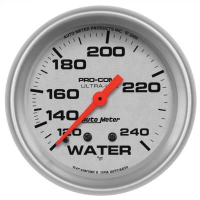 "Instrument Panel - Engine Coolant Temperature Gauge - AutoMeter - GAUGE, WATER TEMP, 2 5/8"", 120-240?F, MECHANICAL, ULTRA-LITE - 4432"