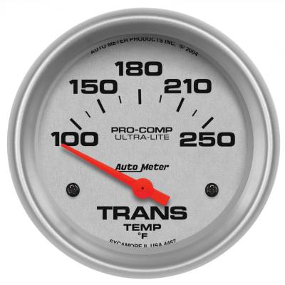 "GAUGE, TRANSMISSION TEMP, 2 5/8"", 100-250?F, ELECTRIC, ULTRA-LITE - 4457"